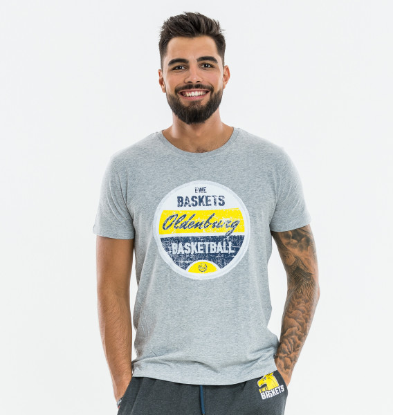 T-Shirt Stempel grau