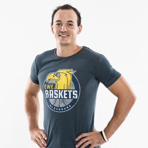 18/19 T-Shirt Logo Herren blau